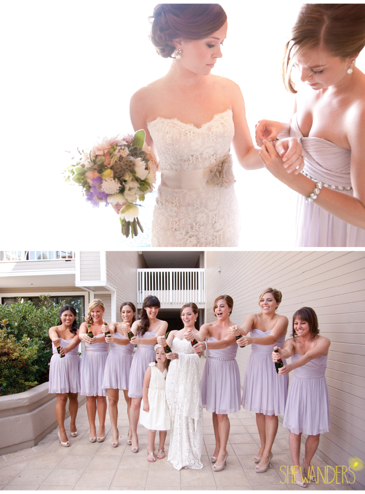 succulent bouqet, lavender bridesmaids, coronado wedding photographer, san diego vintage wedding photography, shewanders photography