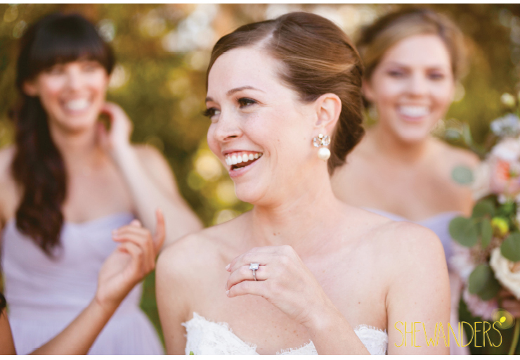 Bride laughing, coronado wedding photographer, san diego vintage wedding photography, shewanders photography