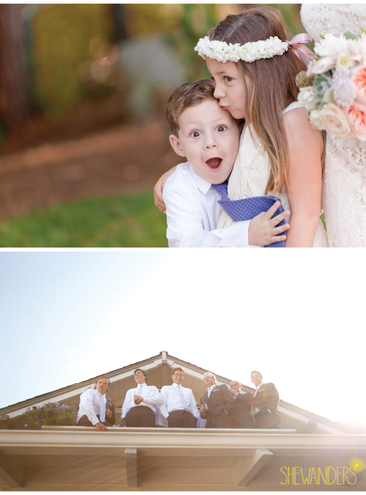 groomsmen shot, ring bearer and flower girl, coronado wedding photographer, san diego vintage wedding photography, shewanders photography