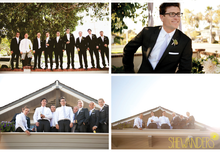 groomsmen, groom, coronado wedding photographer, san diego vintage wedding photography, shewanders photography
