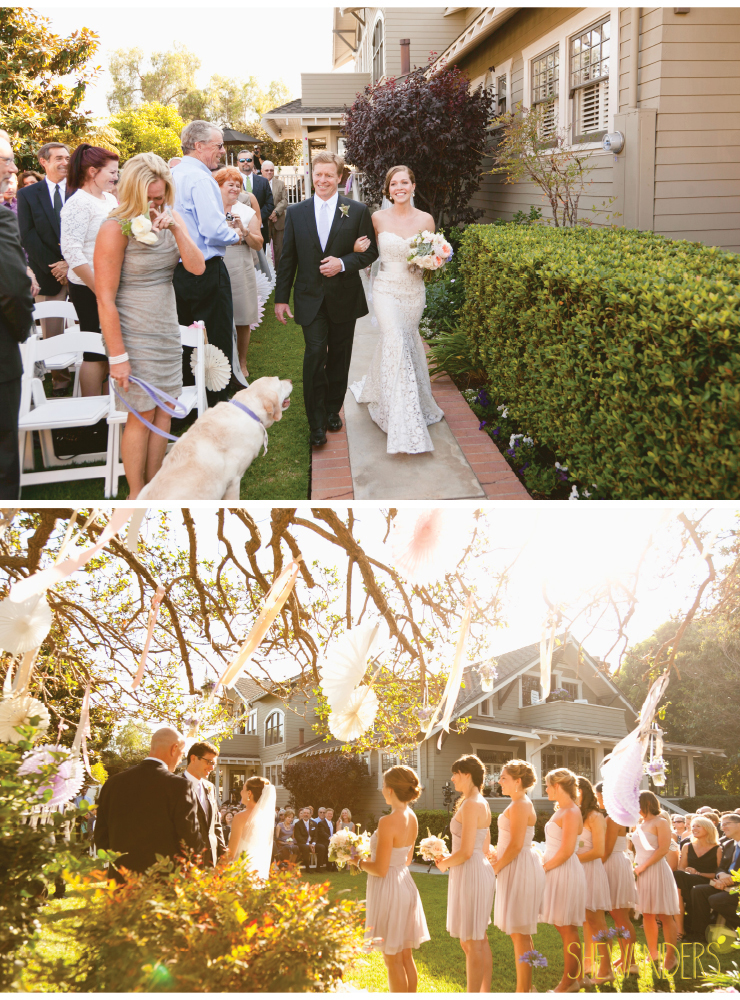 wedding ceremony, pinwheels, coronado wedding photographer, san diego vintage wedding photography, shewanders photography