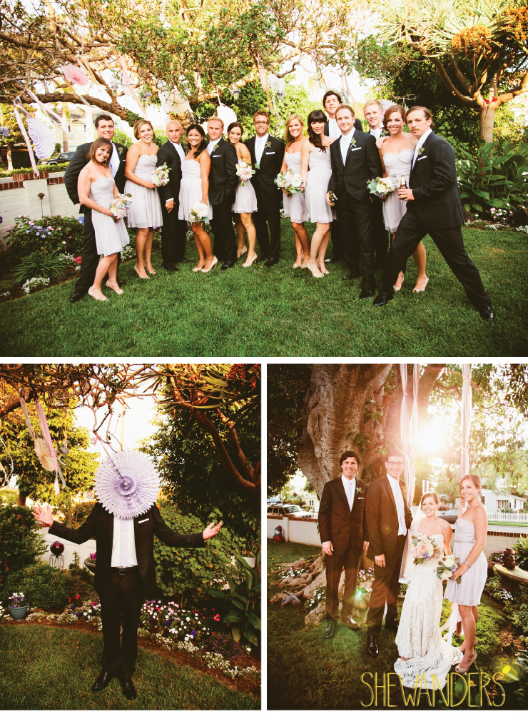 wedding party, bridesmaid and groom, coronado wedding photographer, san diego vintage wedding photography, shewanders photography