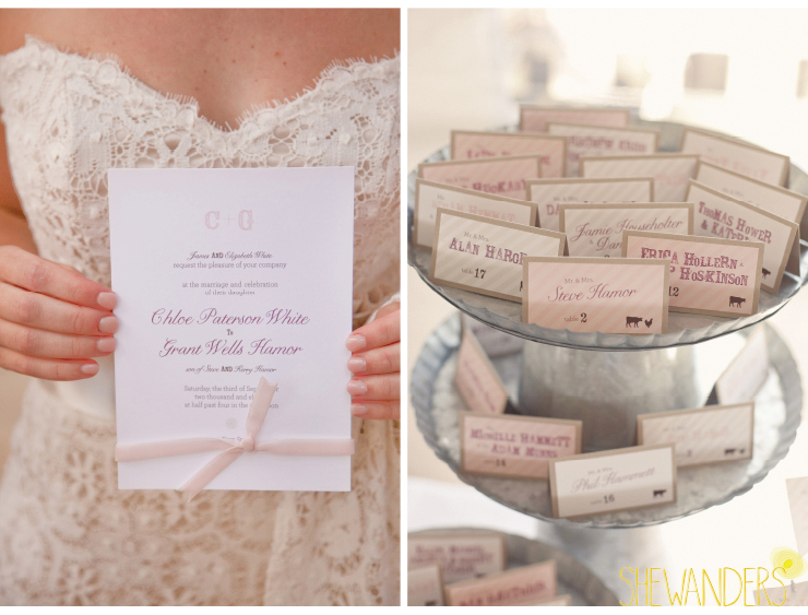 wedding invitation, wedding escort cards, coronado wedding photographer, san diego vintage wedding photography, shewanders photography
