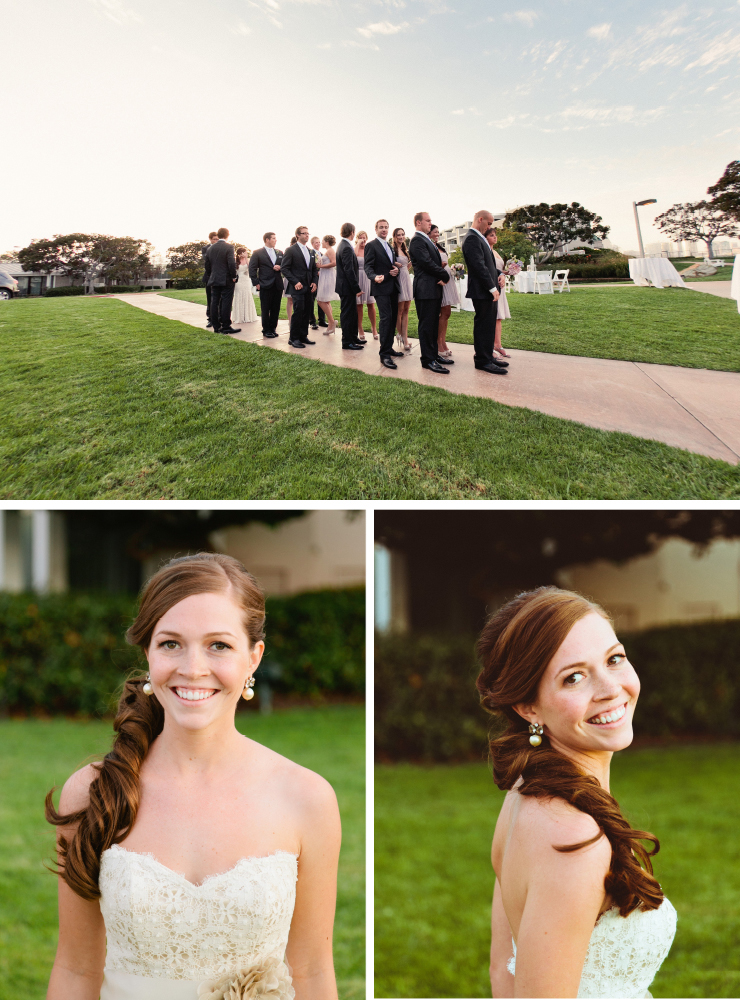 groomsmen party, bride, coronado wedding photographer, san diego vintage wedding photography, shewanders photography