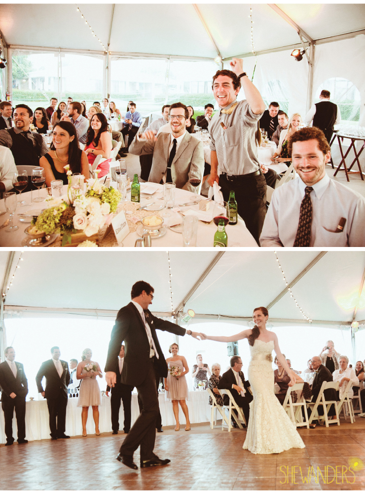 bride and groom dance, wedding reception, coronado wedding photographer, san diego vintage wedding photography, shewanders photography