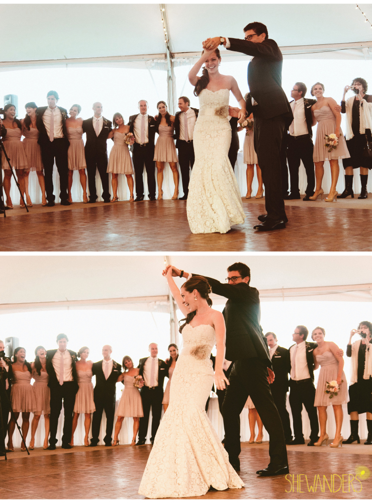 bride and groom first dance, coronado wedding photographer, san diego vintage wedding photography, shewanders photography