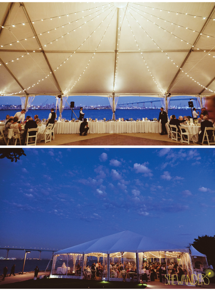 wedding reception venue, night wedding reception, coronado wedding photographer, san diego vintage wedding photography, shewanders photography