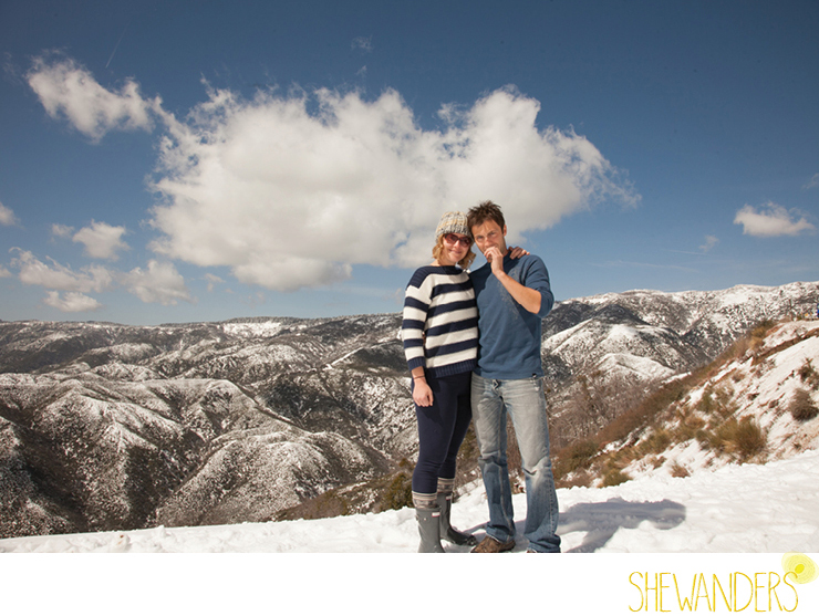 shewanders photography, Big Bear, mountain, snow, couple, top of mountain