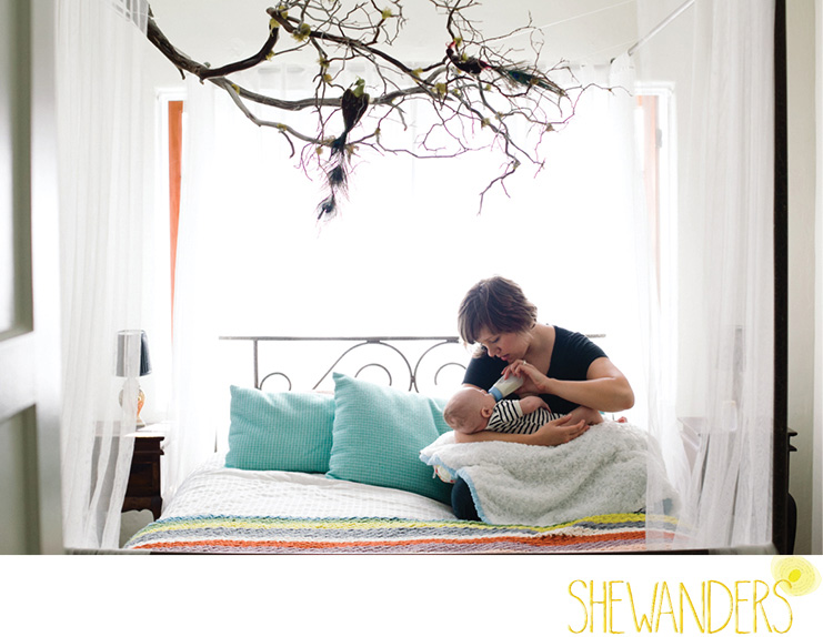 san diego family photography, beautiful baby shot with mom, shewanders photography