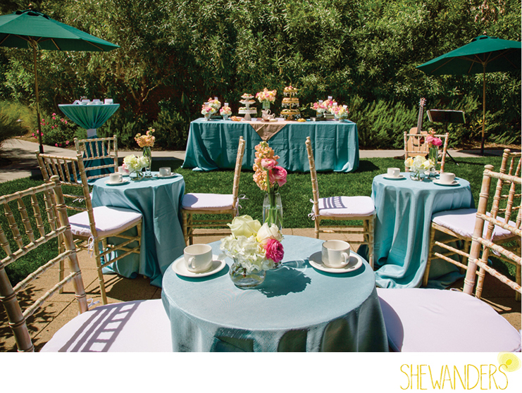 shewanders photography, estancia la jolla, tea setting