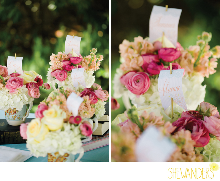 shewanders photography, estancia la jolla, flower centerpiece