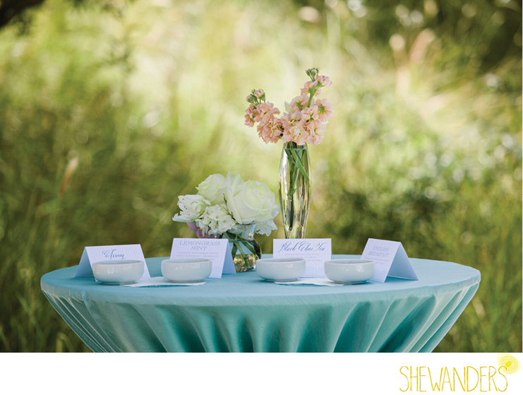 shewanders photography, estancia la jolla, flower centerpiece, tea party