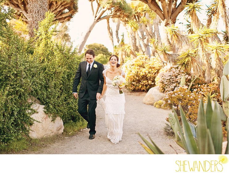 shewanders photography, balboa park, san diego, bride and groom, embrace, playful