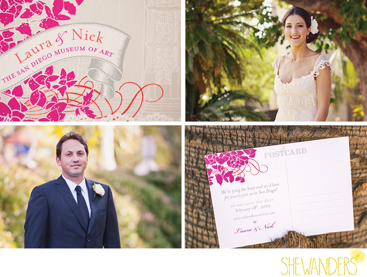 shewanders photography, balboa park, bride, groom, save the date