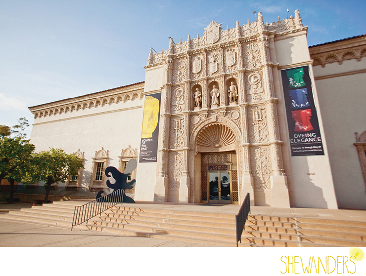 shewanders photography, balboa park, san diego museum of art, wedding