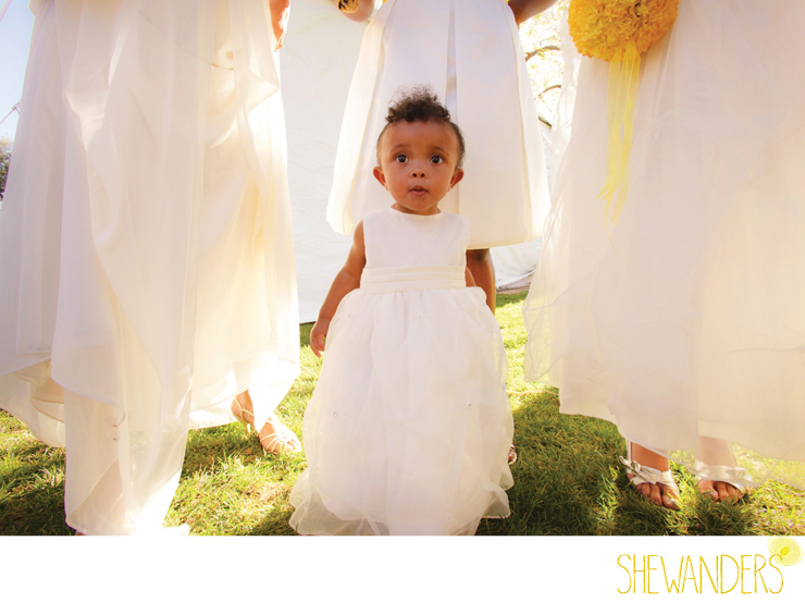 shewanders photography, bridesmaid, wedding, yellow flowers bouquet, natural lighting, baby