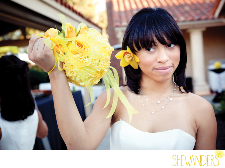 shewanders photography, yellow flowers, circle, bridesmaid