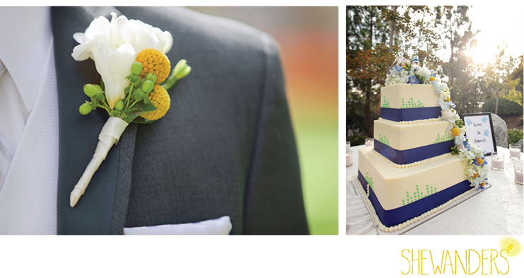 shewanders photography, groom, Boutonnière, layer cake