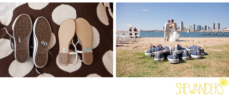 shewanders photography, sneakers, casual wedding, beach, his and hers footwear