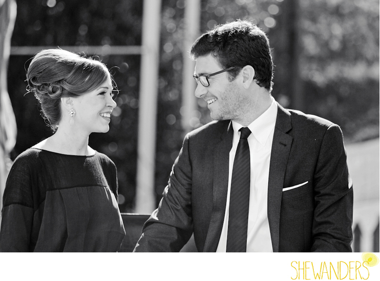 shewanders photography, mad men, engagement, black and white photography, smiles