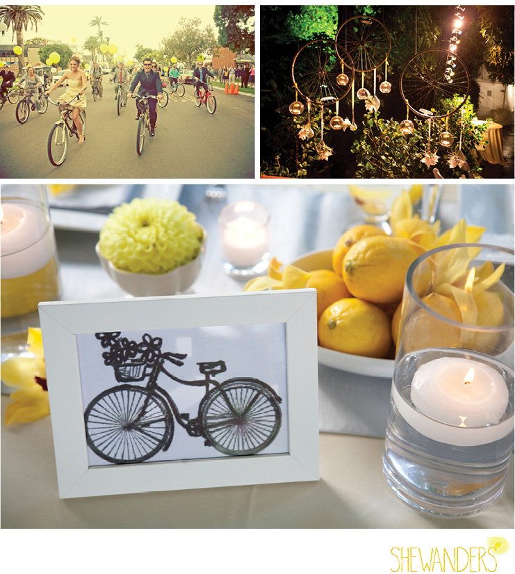 shewanders photography, wedding theme, bikes, bike, lemons