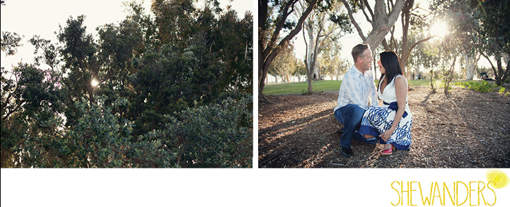 shewanders photography, san diego engagement photography, trees