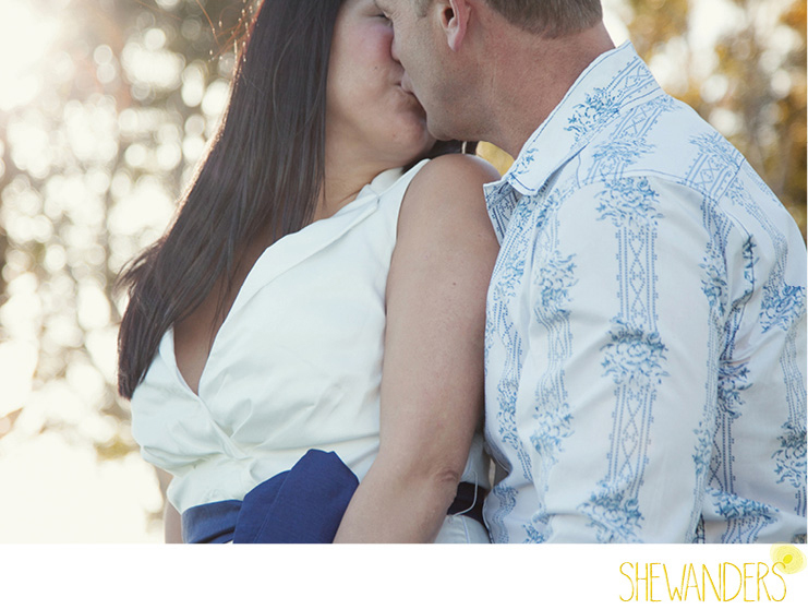 shewanders photography, san diego engagement photography, sweet kiss