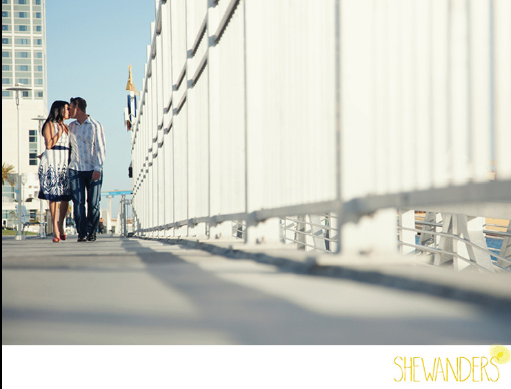 shewanders photography, san diego engagement photography, fence kiss
