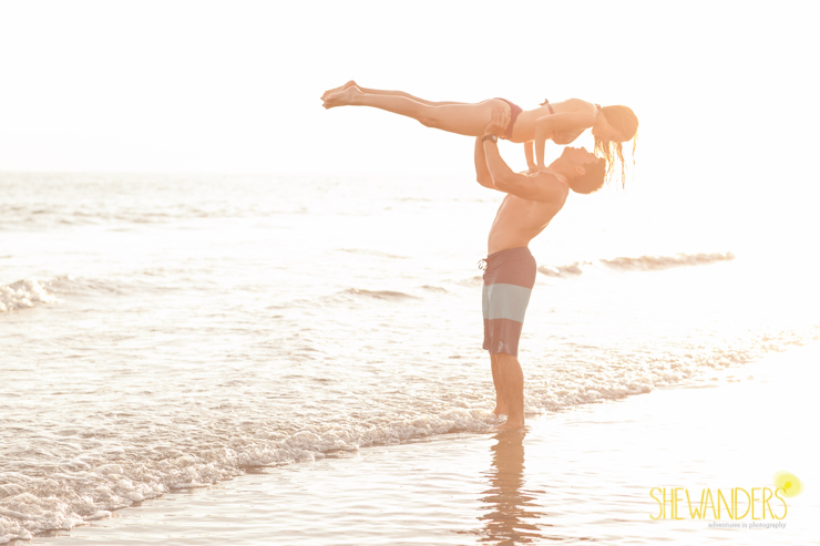 dirty dancing lift, coronado engagement photography, coronado beach engagement photography, shewanders photography, great abs, gorgeous couple in coronado