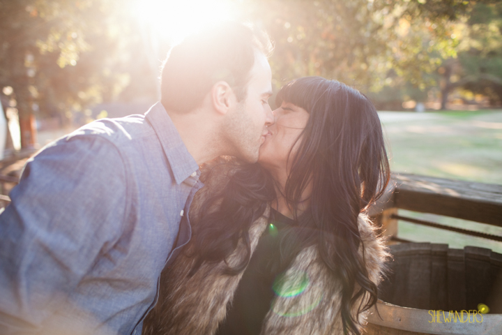 SheWanders Photography, kiss, sun flare, fur, blue,