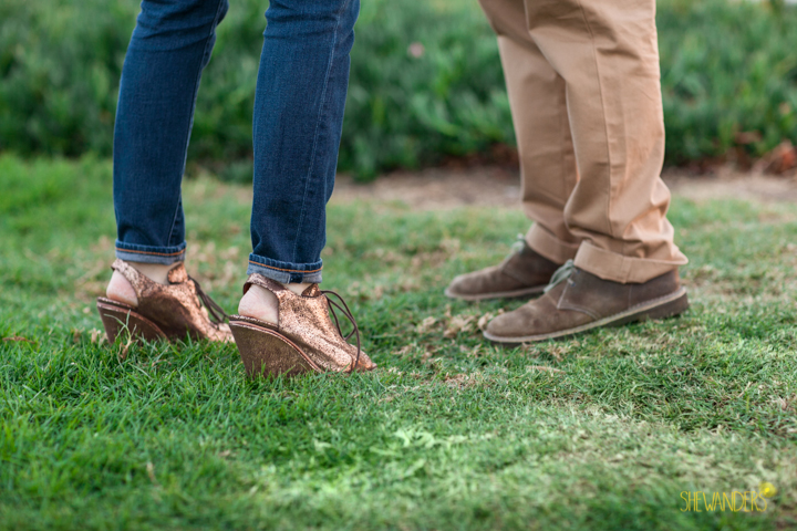SheWanders Photography, shoes, standing, grass, couple