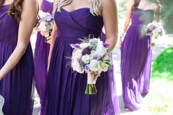 shewanders photography, wedding photography, portrait photography, portraits, groom, bride, black and white, bridesmaids, purple bridesmaids dress, purple and white bouquet