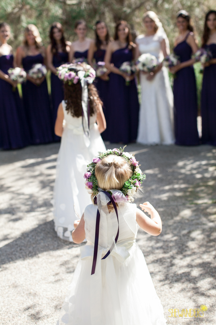 shewanders photography, wedding photography, portrait photography, portraits, groom, bride, black and white, floral crown, bridesmaids, purple and white wedding, flower girls