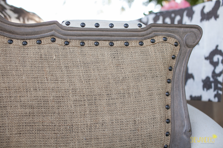 texture, chair, tan, soft, detail, attention, la jolla wedding photography, shewanders wedding photography, luxe events, blush botanicals, brightly designed, la jolla beach and tennis club, exquisite weddings.
