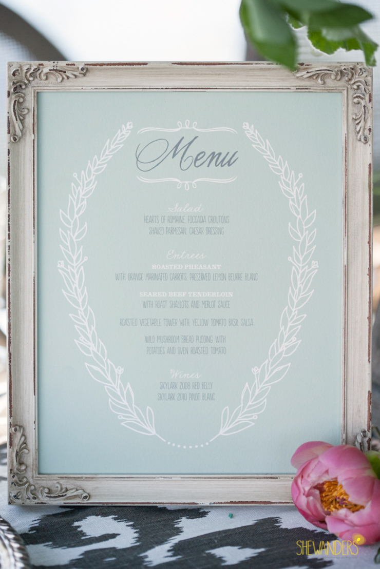 Menu, royal, elegant, beautiful, soft, la jolla wedding photography, shewanders wedding photography, luxe events, blush botanicals, brightly designed, la jolla beach and tennis club, exquisite weddings.