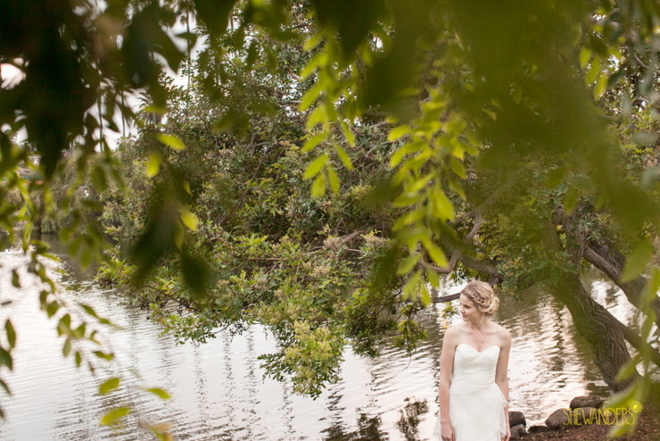 Bride, lake, leaves, la jolla wedding photography, shewanders wedding photography, luxe events, blush botanicals, brightly designed, la jolla beach and tennis club, exquisite weddings.