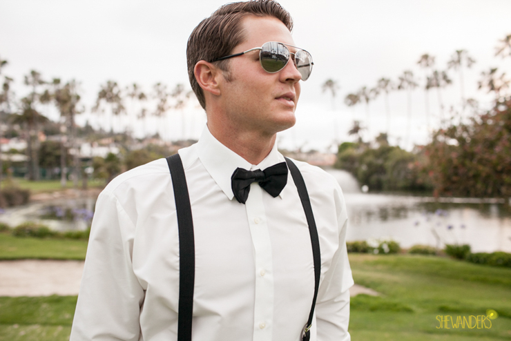 groom, glasses, suspenders, candid, la jolla wedding photography, shewanders wedding photography, luxe events, blush botanicals, brightly designed, la jolla beach and tennis club, exquisite weddings.