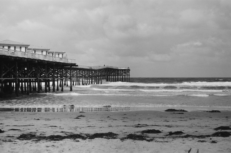 pacific beach pier, shewanders photography, richards photo lab, pentax k1000
