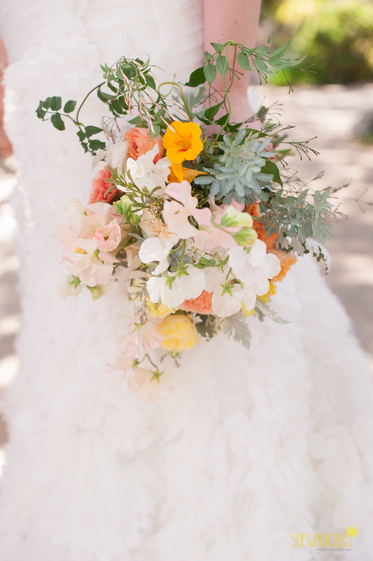 rustic bouquet, del mar wedding photography, shewanders wedding photography, root 75, luxe events, miho gastropub,
