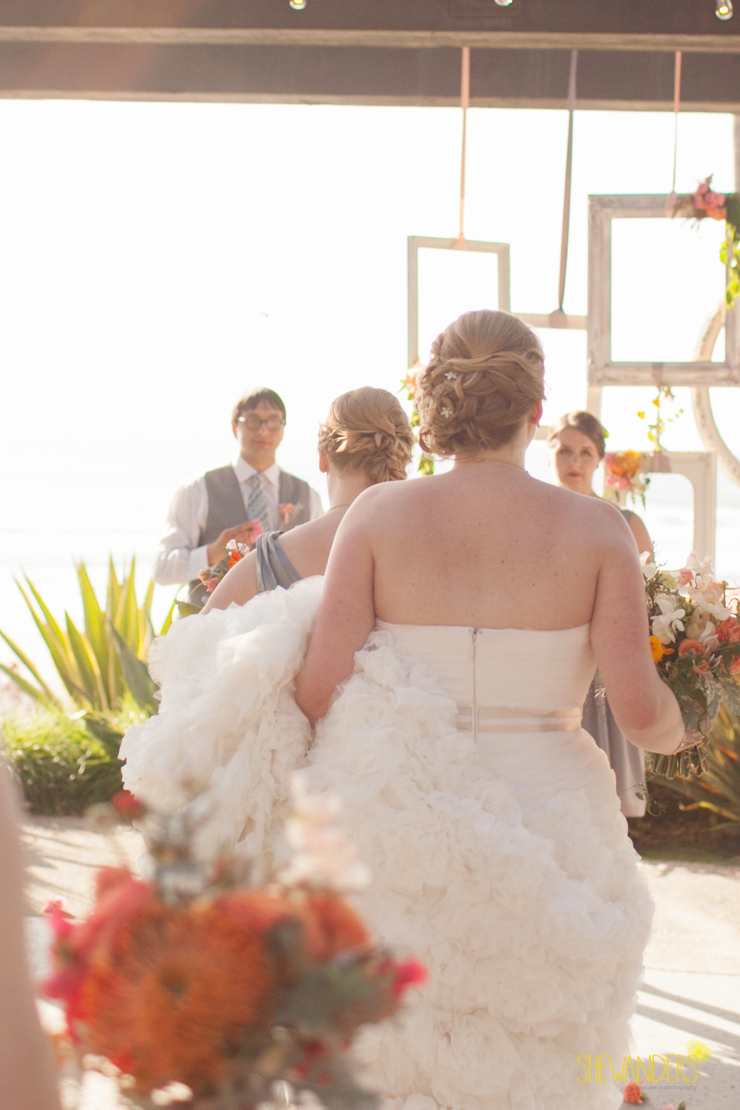 bride walking away, del mar wedding photography, shewanders wedding photography, root 75, luxe events, miho gastropub,