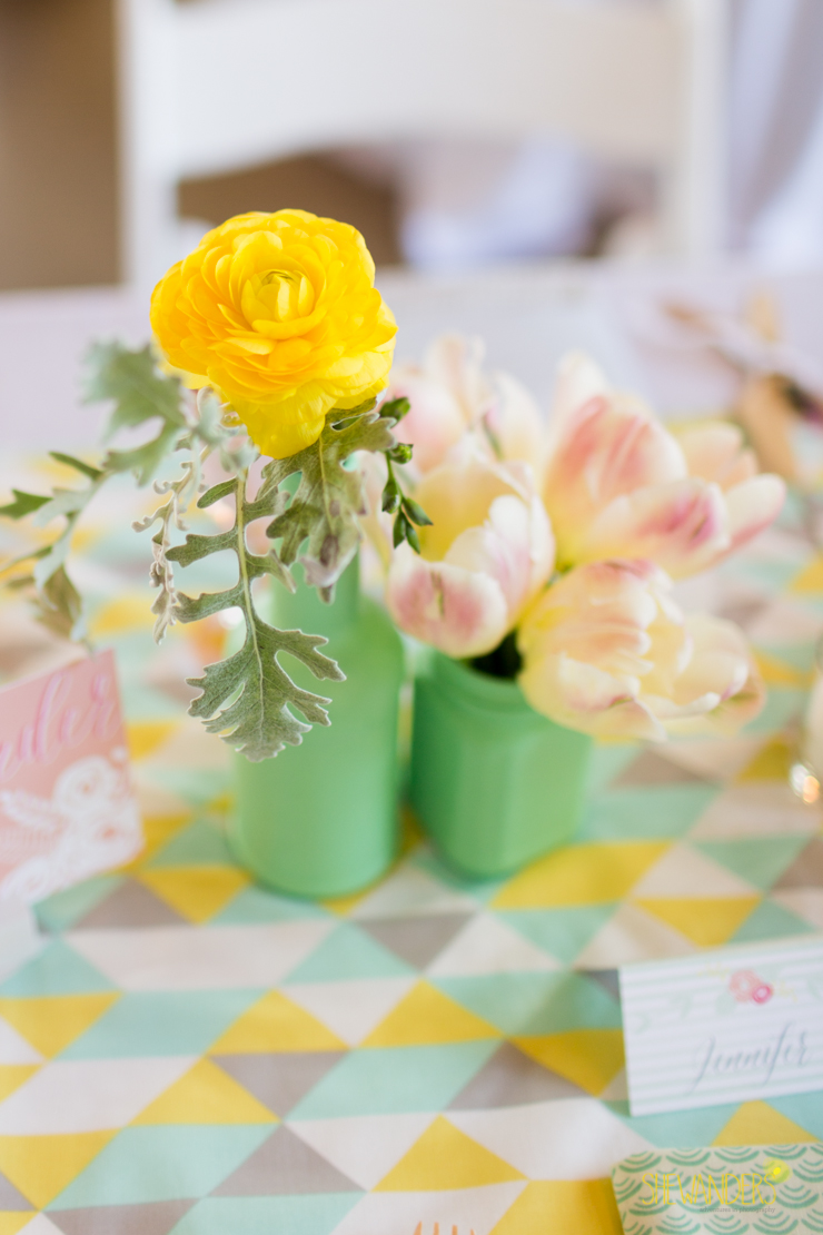 centerpiece, yellow, floral,del mar wedding photography, shewanders wedding photography, root 75, luxe events, miho gastropub,