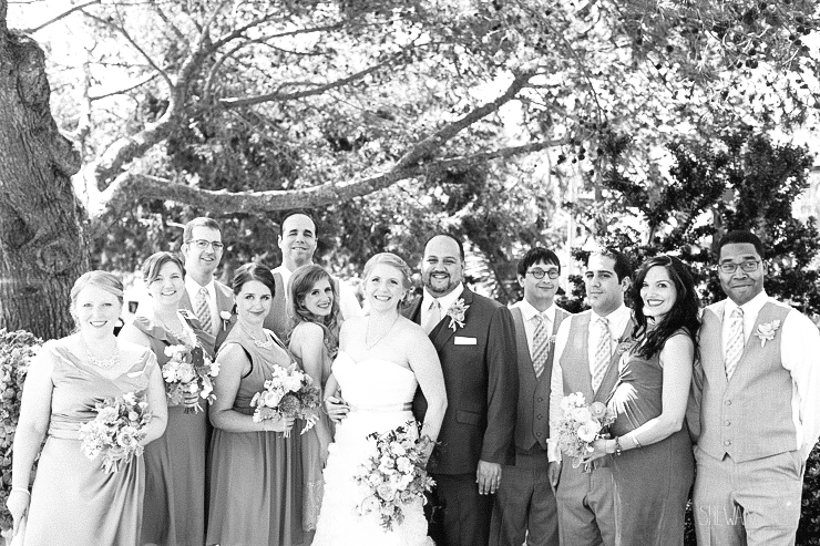 black and white, wedding party,del mar wedding photography, shewanders wedding photography, root 75, luxe events, miho gastropub,