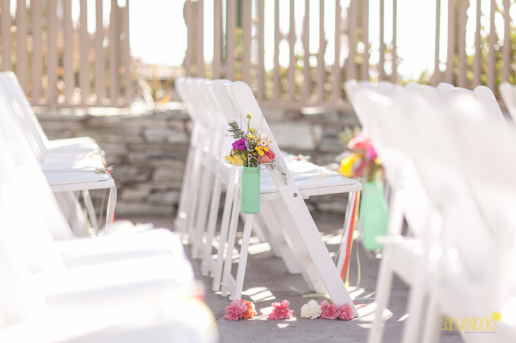 chairs, asile,del mar wedding photography, shewanders wedding photography, root 75, luxe events, miho gastropub,