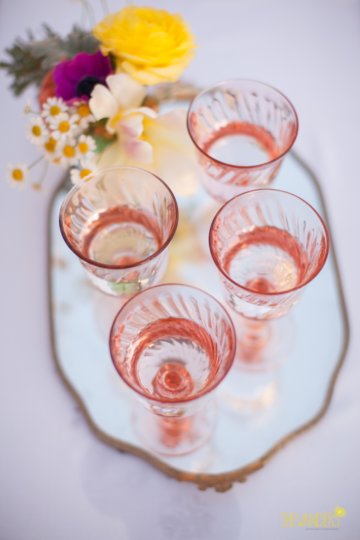 glasses, pink glass,del mar wedding photography, shewanders wedding photography, root 75, luxe events, miho gastropub,