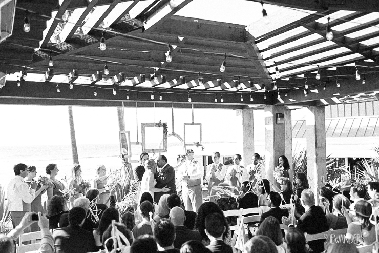 wedding ceremony, bride, groom, bridesmaids, groomsmen,del mar wedding photography, shewanders wedding photography, root 75, luxe events, miho gastropub,