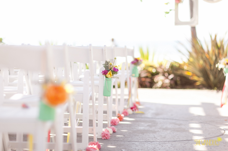 wedding ceremony, chairs,del mar wedding photography, shewanders wedding photography, root 75, luxe events, miho gastropub,