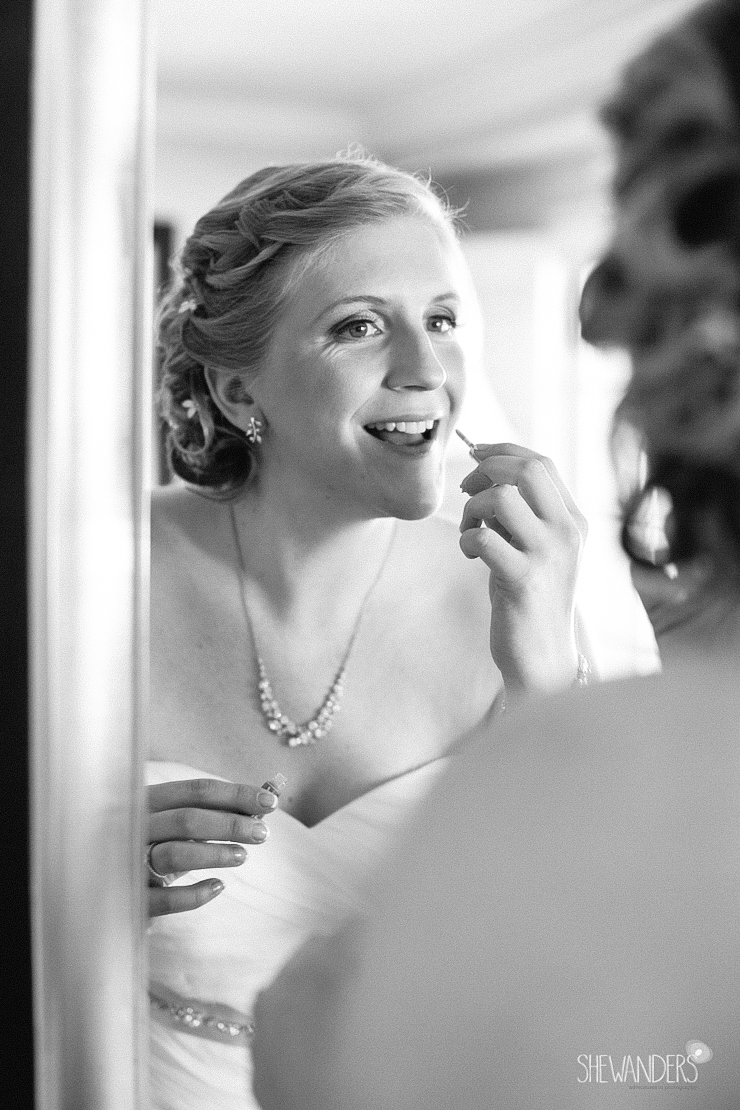black and white, bride, makeup, mirror,del mar wedding photography, shewanders wedding photography, root 75, luxe events, miho gastropub,