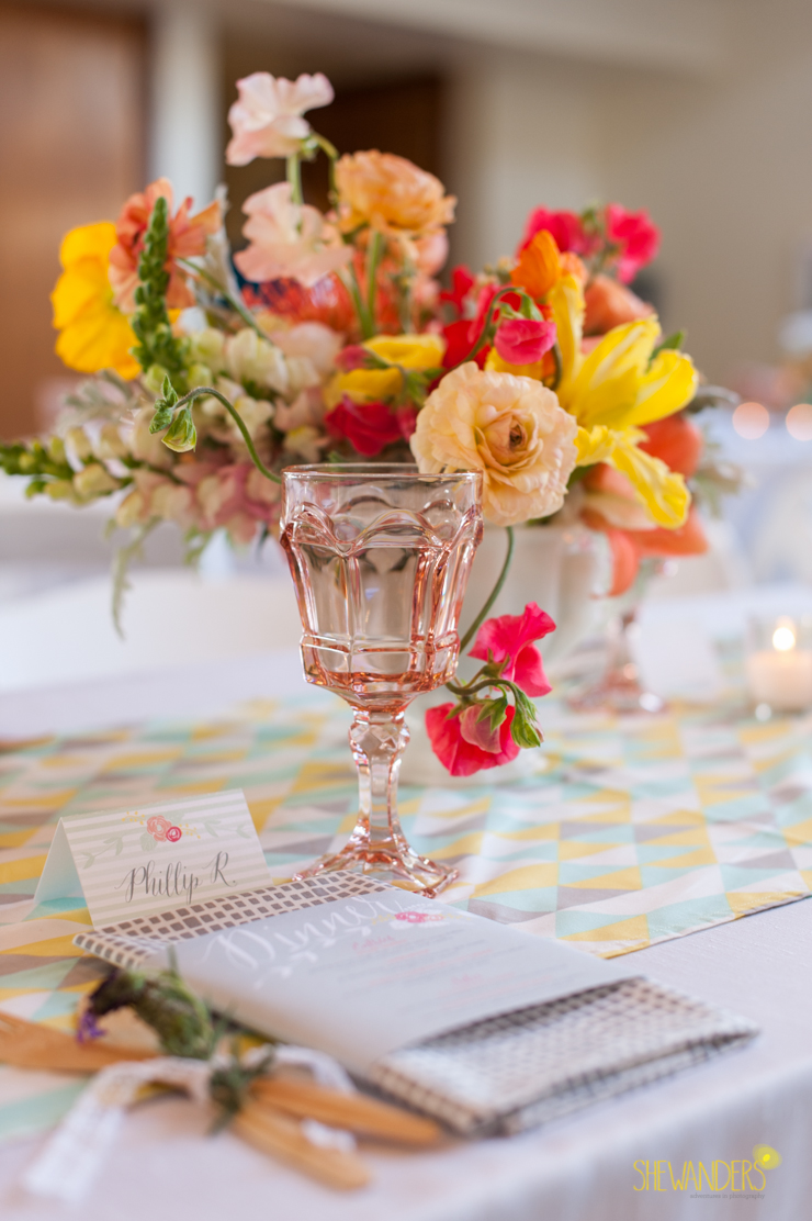 flowers, floral, dinner reception, archive rentals, glass,del mar wedding photography, shewanders wedding photography, root 75, luxe events, miho gastropub,