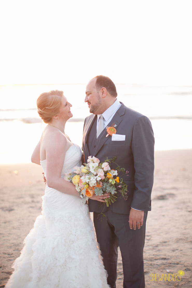 bride, groom, beach, bouquet, floral, wedding dress,del mar wedding photography, shewanders wedding photography, root 75, luxe events, miho gastropub,