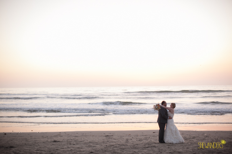 sunset, bride, groom, beach,del mar wedding photography, shewanders wedding photography, root 75, luxe events, miho gastropub,